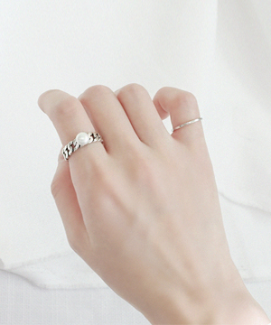 chain ring (silver) (당일출고)
