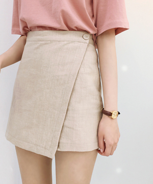 beige-wrap skirt PT (SALE)(당일출고)