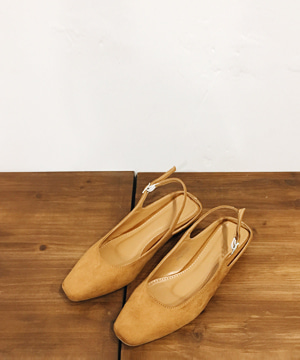 brown sling back shoes (당일출고)
