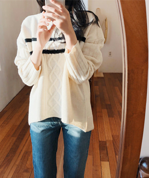 stripe twist NT (울80%) (SALE)(당일출고)