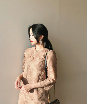 gold lace DRESS (SALE)