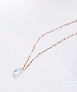 drop necklace (silver)
