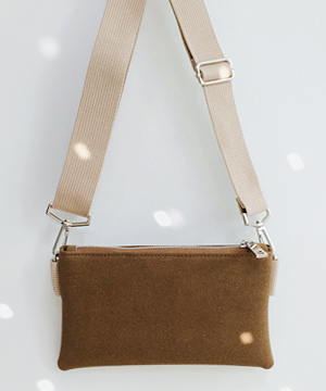 suede mini two-way BAG
