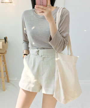 leaf linen short PT (BE) (SALE)